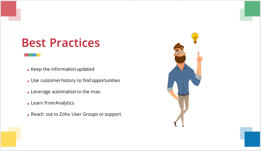 Zoho Michigan Users Group Recap - July 2019 - Blog: CRM Solutions & Industry News | AspenTech CRM - ZUG_Best_Practices
