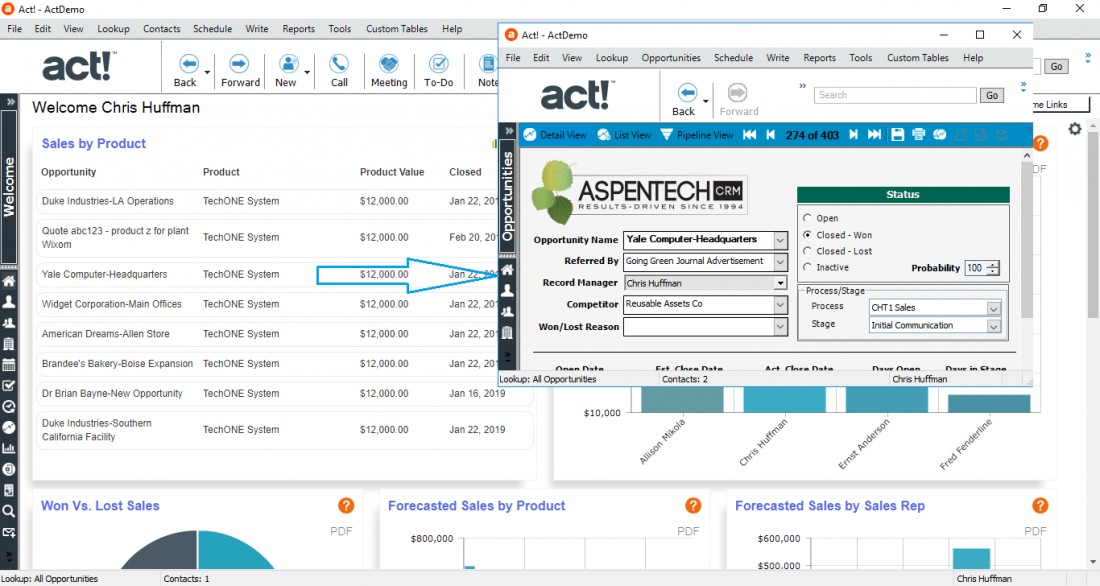 Act! Version 22 Released - Blog: CRM Solutions & Industry News | AspenTech CRM - v22_Welcome_Screen_ClickThrough